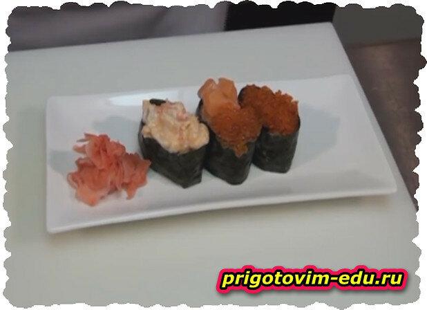 Как готовить Гункан-суши. Видео рецепт