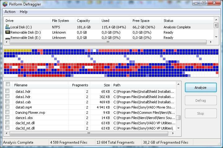 Бесплатная дефрагментация программой Defraggler, чтобы ускорить компьютер