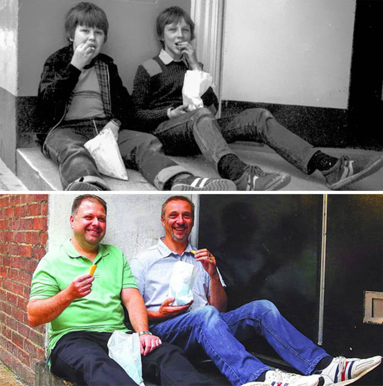 A photographer finds the people to recreate the photos taken 40 years ago