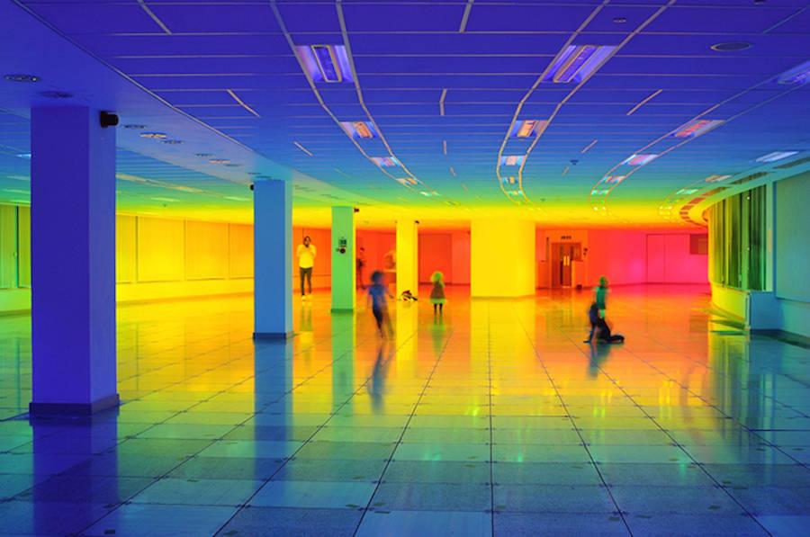 Rainbow Installation Inside Bristol Biennal (9 pics)