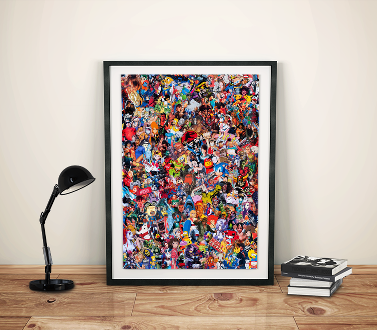 Pop Collage by Mr Garcin - A New Exclusive Art Print on the Geek-Art Store !