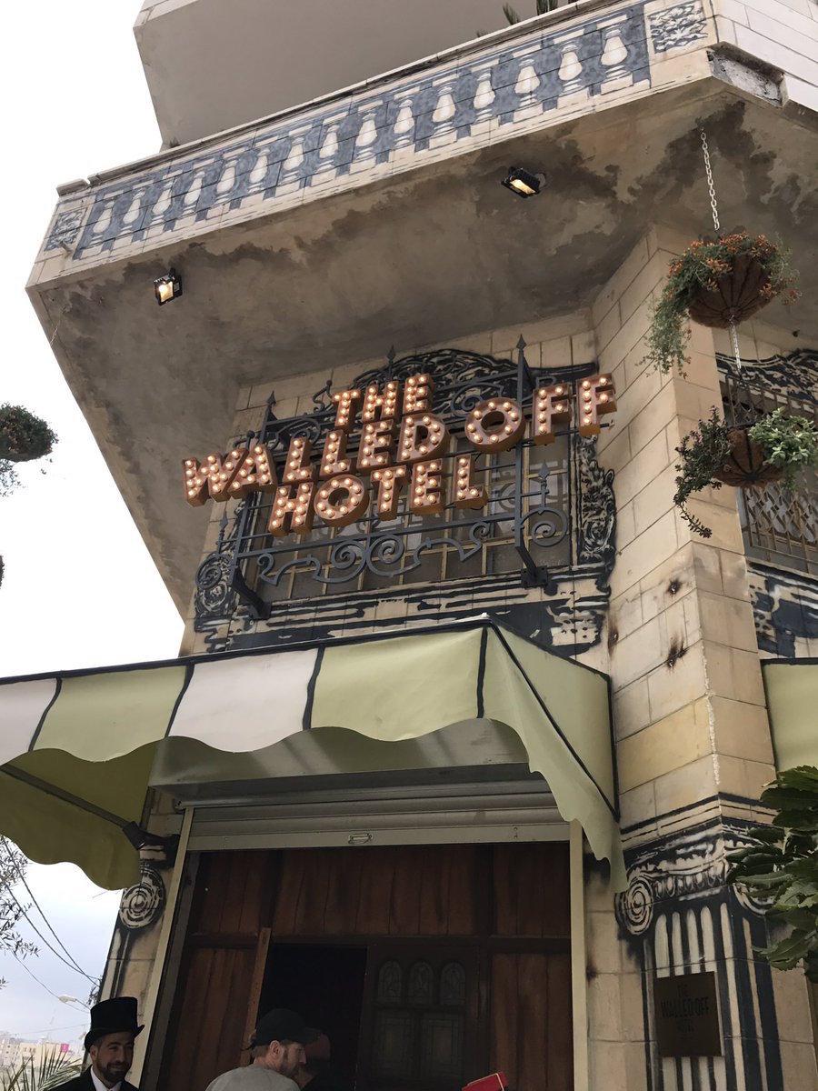 Hotel on Bethlehem Barrier Wall by Banksy