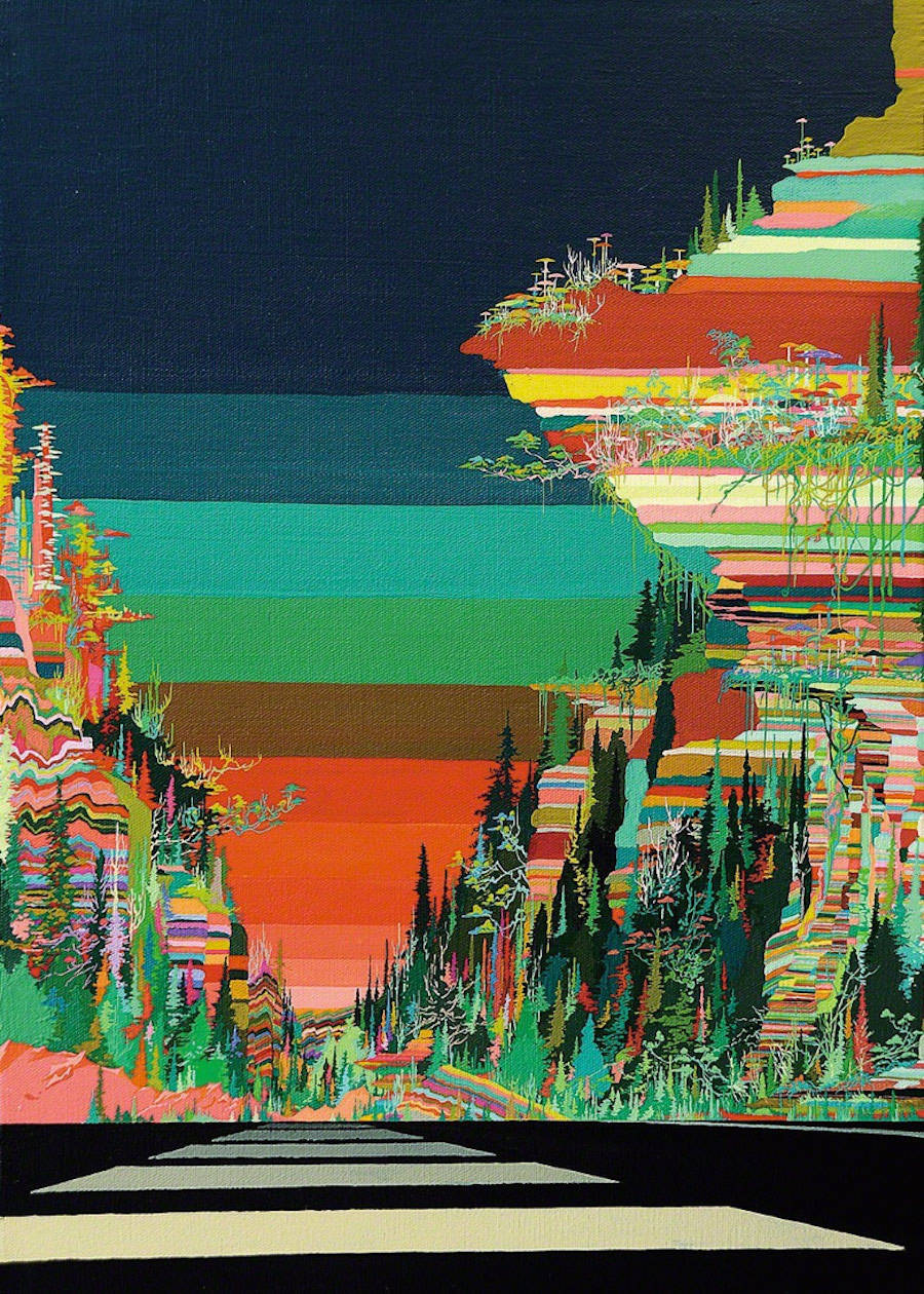 Psychedelic Paintings of Landscapes