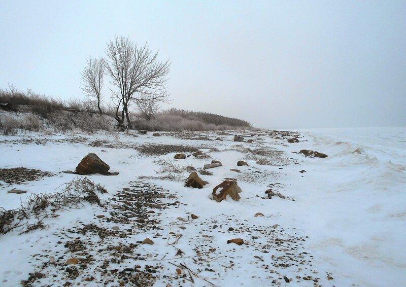 На берегу ... В походе декабрьском, снежно-туманном,