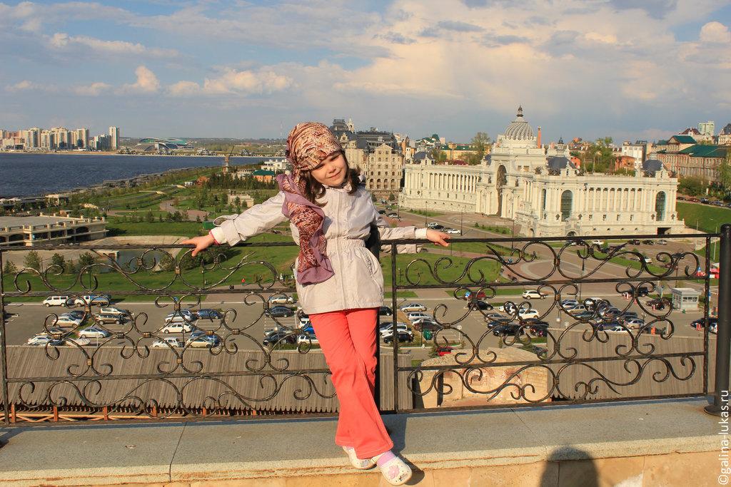 На смотровой площадке в Казанском кремле