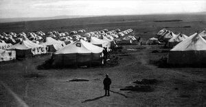 Спецпоселок Центральный. Палатки спецпереселенцев. Первые палатки на Магнитострое появились 15 мая 1930 года.