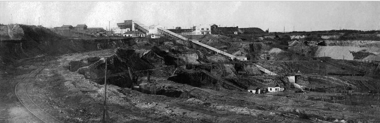 Челябинский буроугольный бассейн. Коркинский район. Разрез № 1.  1930.