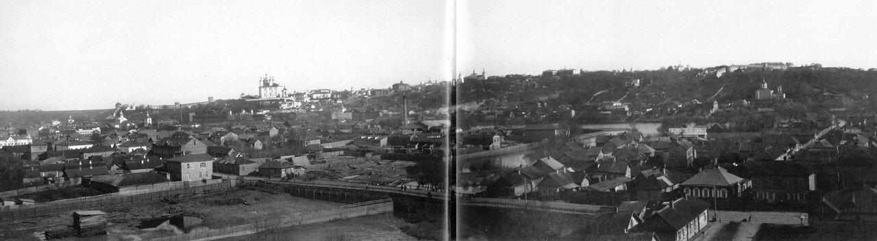 Вид города с колокольни церкви св. Варвары. 1907