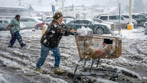 Пурга на северо-востоке США парализовала целые города