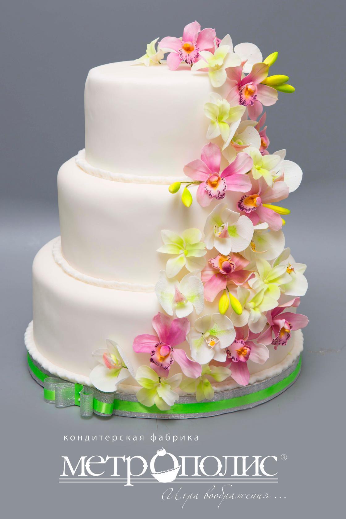 День кондитера. Торт с орхидеями