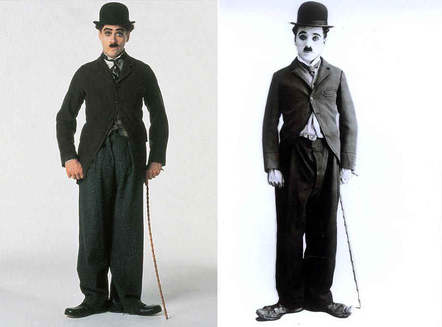 Роберт Дауни-младший в роли Чарли Чаплина, «Чаплин».