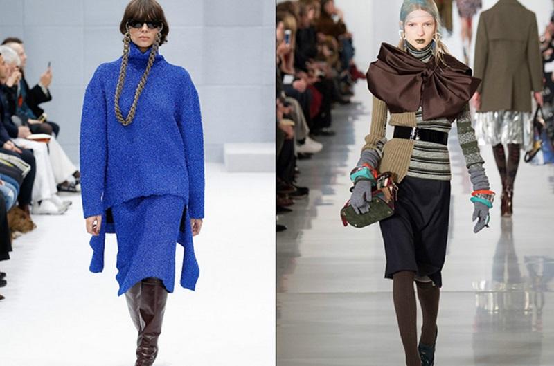 Свитшоты тоже нашли отклик в сердцах дизайнеров. Законодатели моды советуют выбирать одежду с яркими