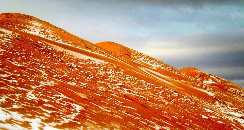 4. Это второй случай снегопада в Сахаре за все время наблюдений. Первый раз был 18 февраля 1979