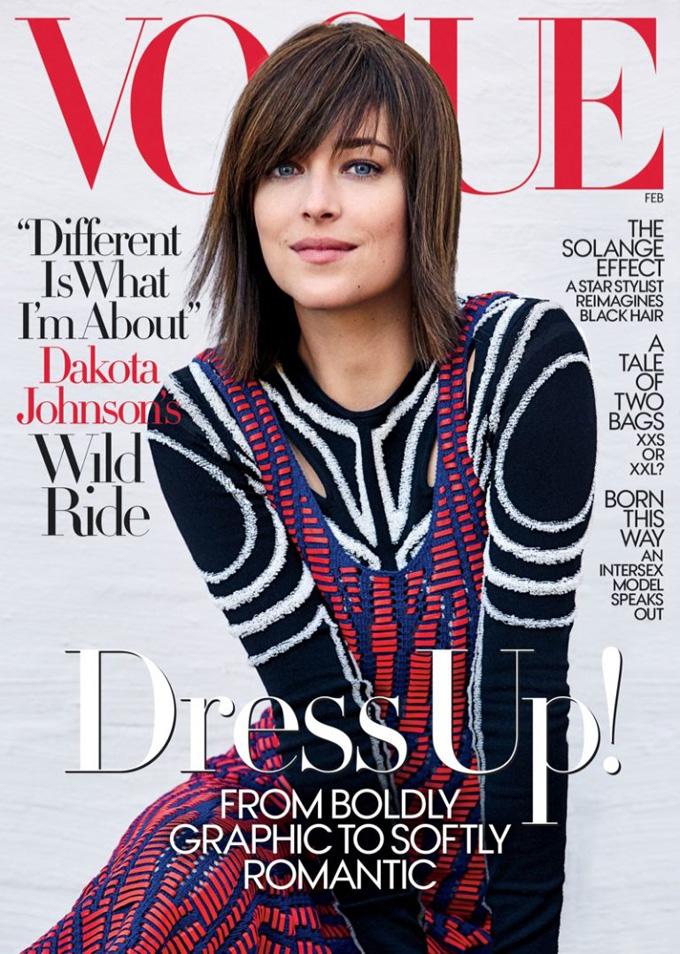 Дакота Джонсон в Vogue (4 фото)