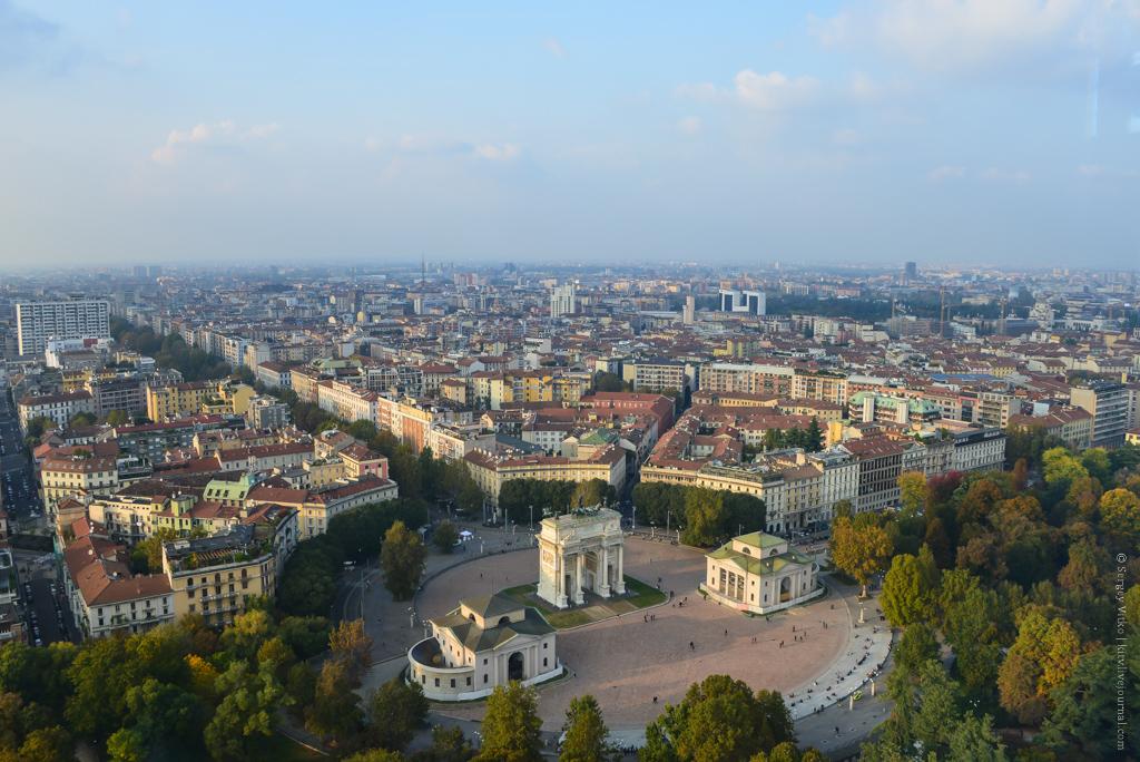 Как выглядит Милан сверху?