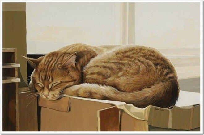 Рисованные коты Селии Пайк— реалистичные мурчалки