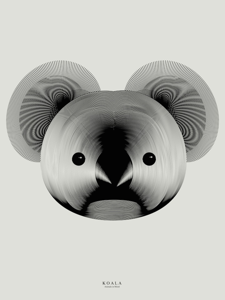 Animals Formed From Moire Patterns by Designer Andrea Minini
