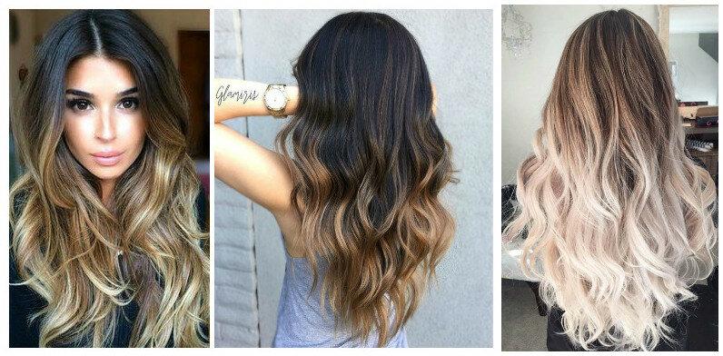 Цвет волос от темного к светлому