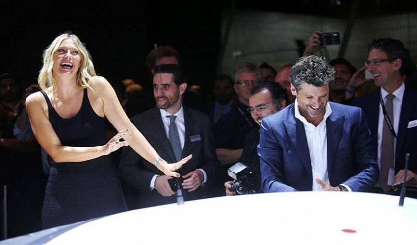 Maria Sharapova and Patrick Dempsey - LA Auto Show 2016