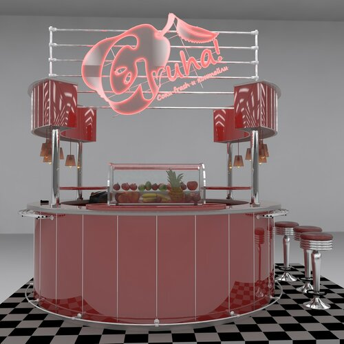 Grusha! фреш-бар Дизайн и визуализация