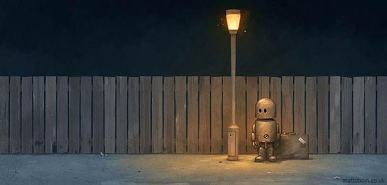 The adorable little robots by Matt Dixon