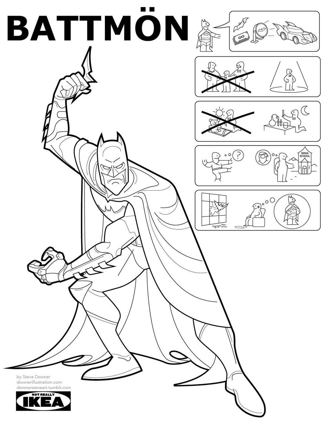 Si IKEA fabriquait des Super-Heros