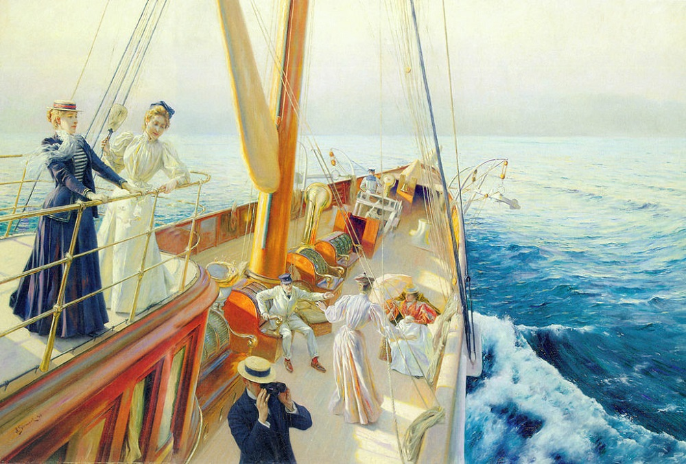 «Yachting in the Mediterranean», 1896 год