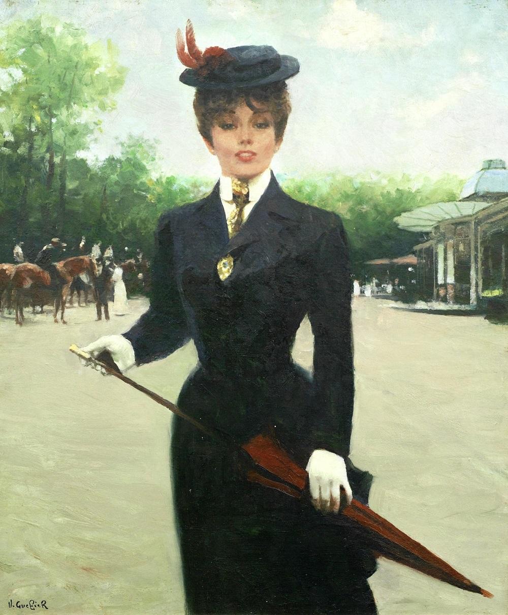 Portrait d'une femme élégante, Paris