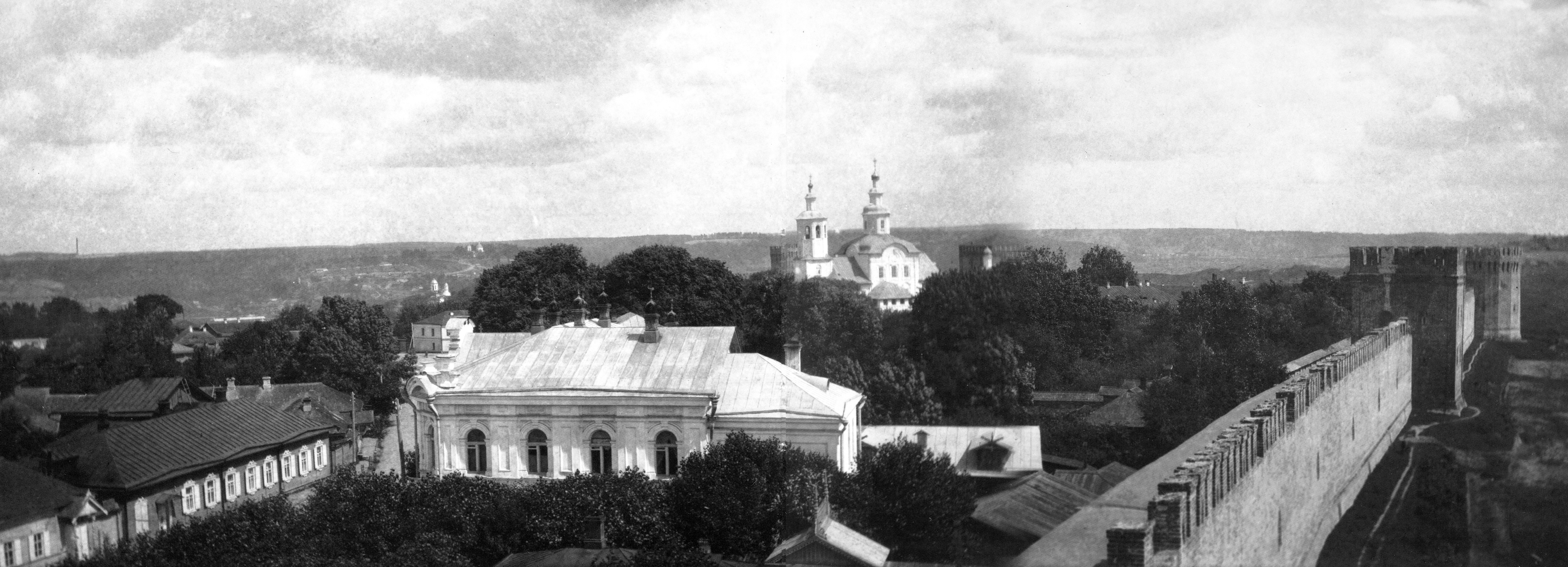 Вид на Авраамиев монастырь, Воронину и Заалтарную башни. 1909