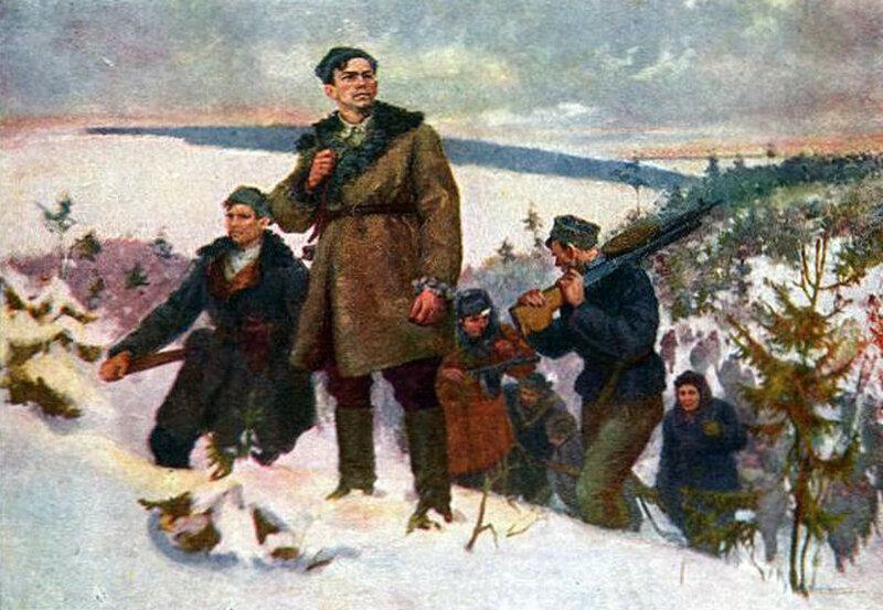«Известия», 18 апреля 1942 года, советские партизаны