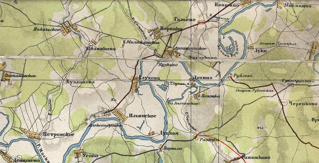 карта Московской области 1923 года (Воскресенский уезд)