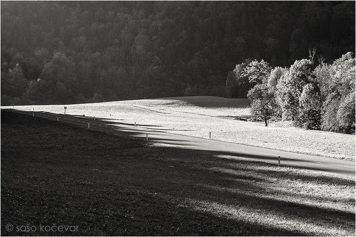Чёрно-белые снимки Словении