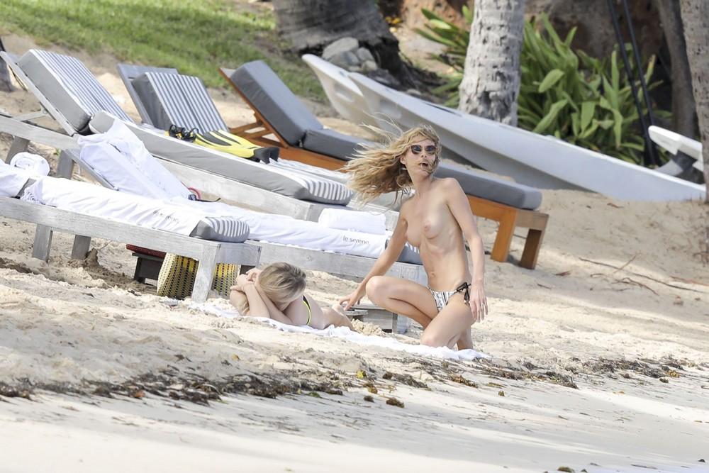 Эдита Вилкевичуте топлес на пляже