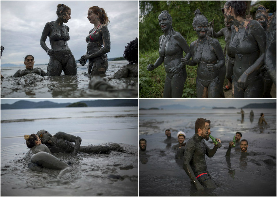 Mud Party in Brazil