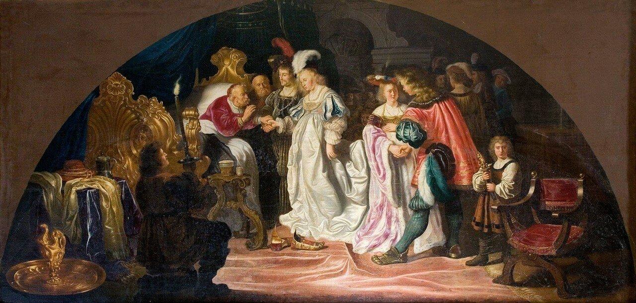 1642 (ок)_Королевское бракосочетание (The Royal Double Bethrothals or Nuptials of 1502)_165 х 345_х.,м._Швеция, замок Скоклостер.jpg