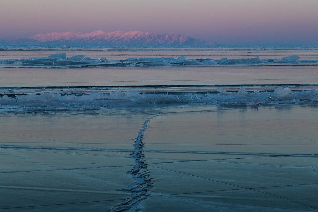 Байкал в марте. Закат