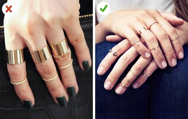 © aliexpress  © taylorjewell  Для коротких пальчиков неподойдут широкие кольца, зато то