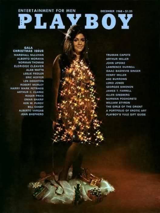 1968 год. Синтия Мейерс в виде рождественской елки.