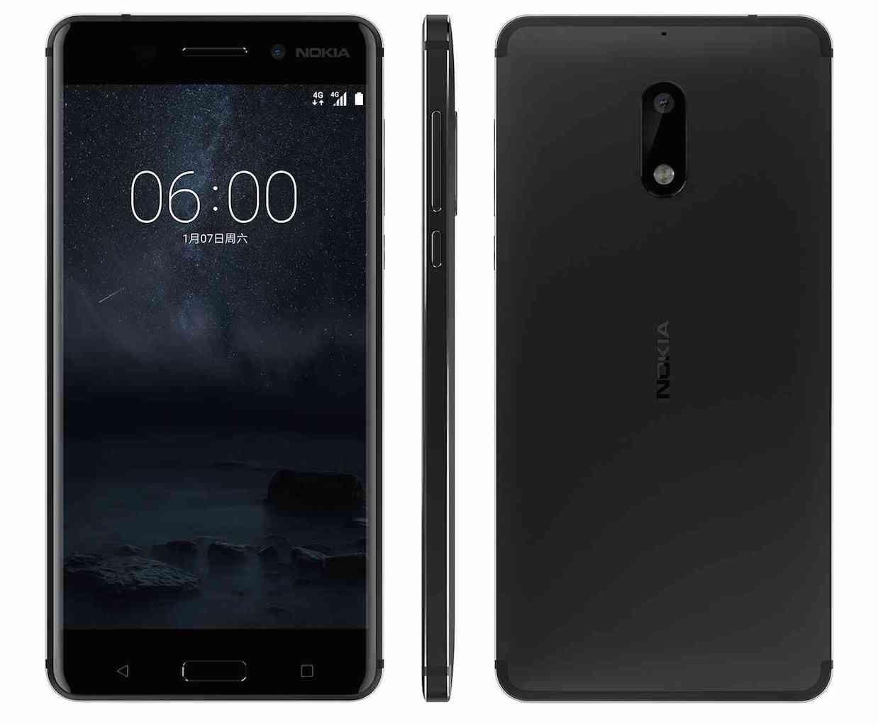 Диагональ экрана Nokia 6 — 5,5 дюймов, разрешение — 1920×1080 пикселей. Смартфон оснащен проце