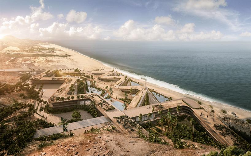 Курортный комплекс зигзагообразной формы в Мексике