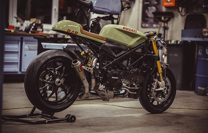 Ducati 848 Evo Racer от NCT Motorcycles – прекрасный образчик кастомизации. Затем были установ
