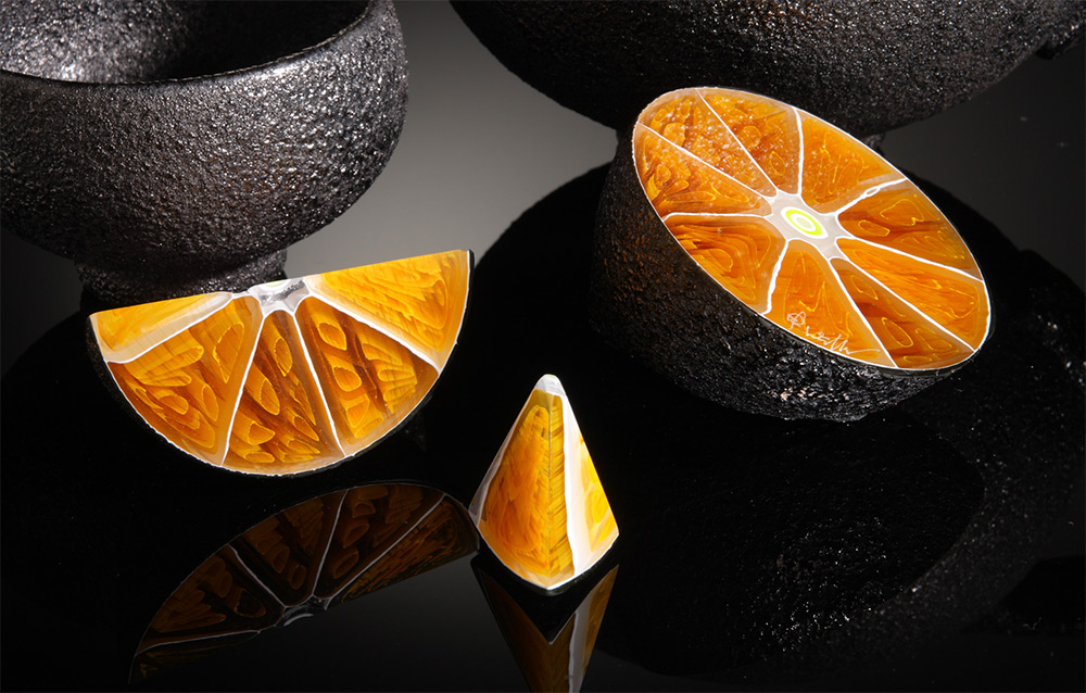 Glass Cross Sections of Fruit and Other Foods by Elliot Walker
