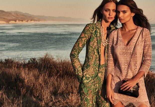 Sasha Pivovarova & Emily Ratajkowski Star in Twinset Spring Summer 2017 Ads (7 pics)