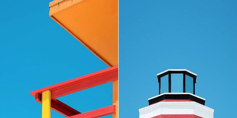 Colorful & Minimalist Miami Rescue Towers (14 pics)