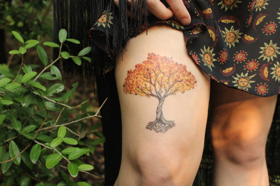 Cute Temporary Tattoos Paying Tribute to the Beauty of Nature