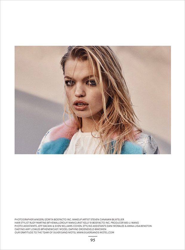 Daphne Groeneveld Stars in the Cover Story of Narcisse Magazine