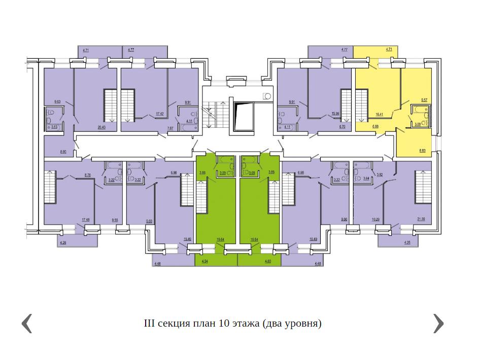 3 секция план 10 этажа, 2 уровня.png