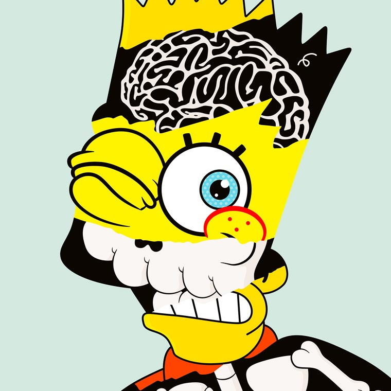 Twisted Toons - The strange pop culture mashups by Cote Escriva