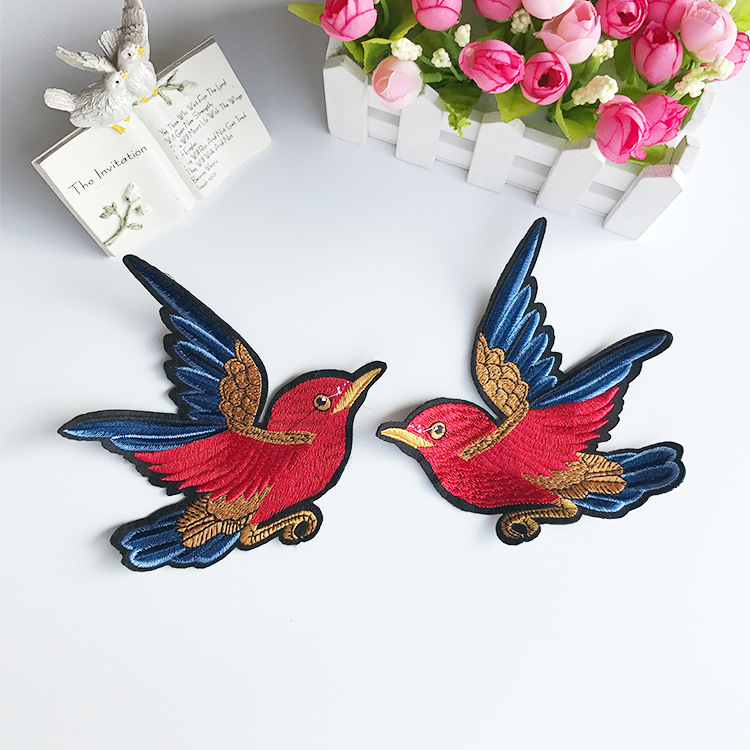 Cute Bird Patches DIY Embroidery Sew On Applique Sewing Repair Patch