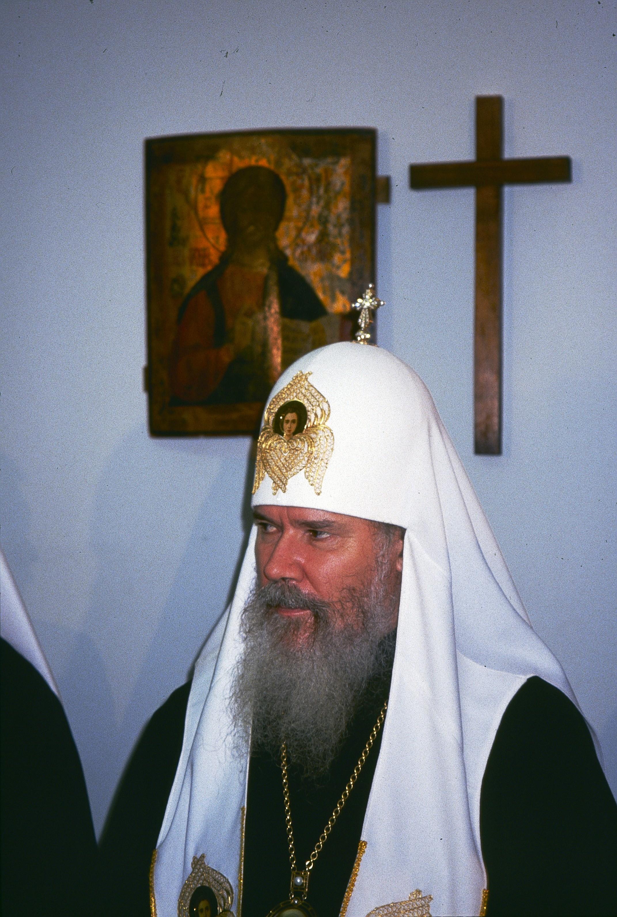 Патриарх Алексий II на открытии Библейского общества